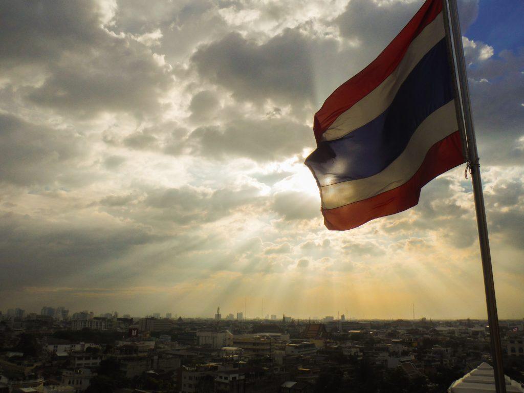 Bangkok view - reisroute Thailand