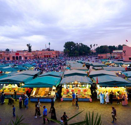Djemaa el Fna-marrakesh-reisroute-marokko