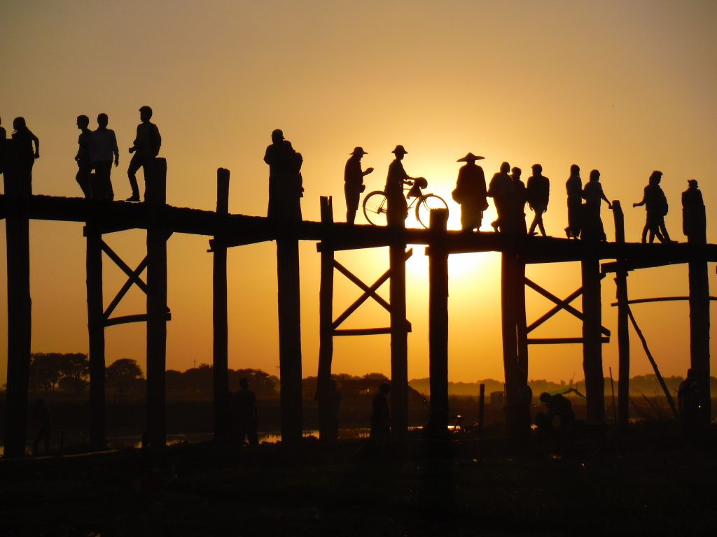 Mandalay bridge reisroute Myanmar