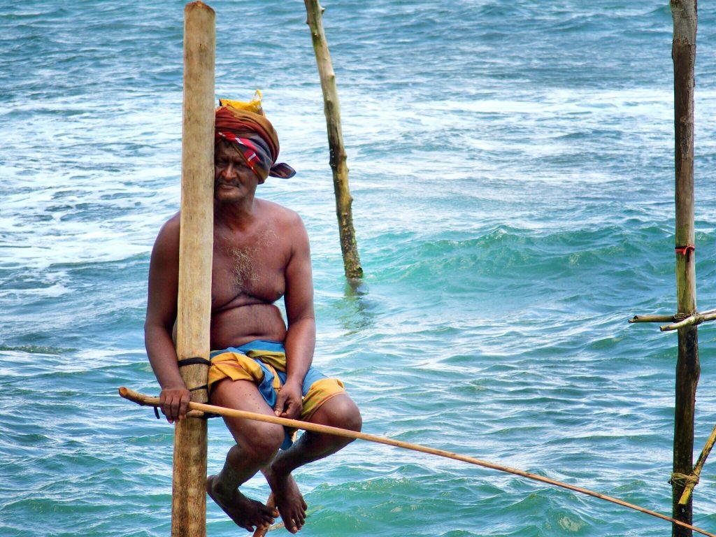 Paalvisser in Mirissa - Reisroute Sri Lanka